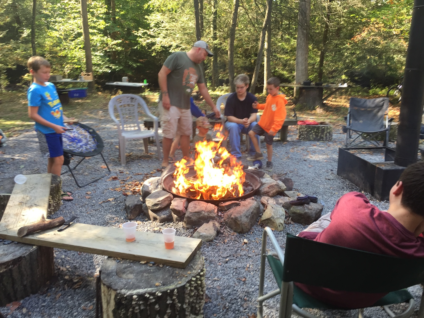 Men and Boys Campfire